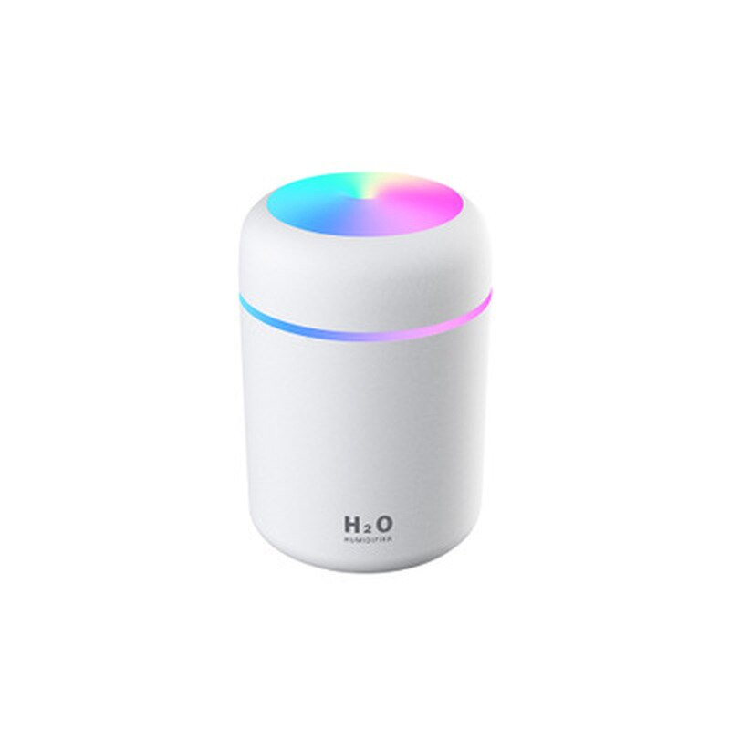 Mini Air Humidifer Oil Diffuser with Romantic Lamp USB Mist Maker 300ML