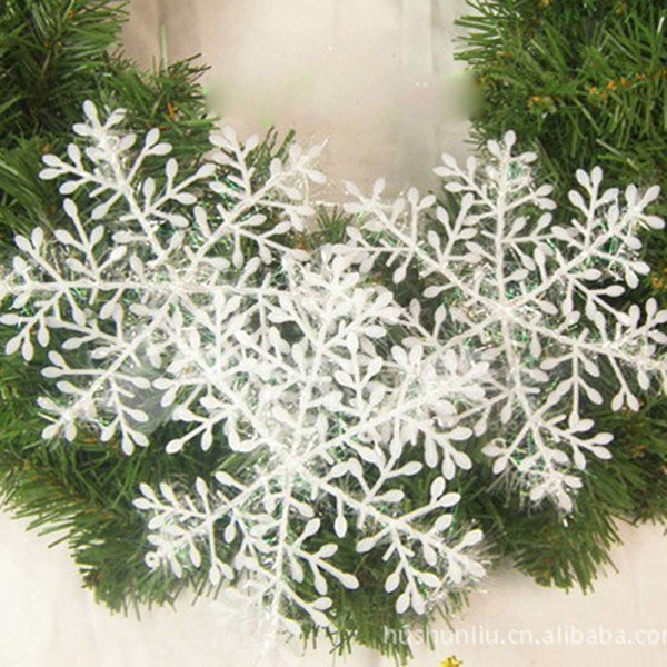 Christmas Party White Snowflake Home Decor Hanging Pendants