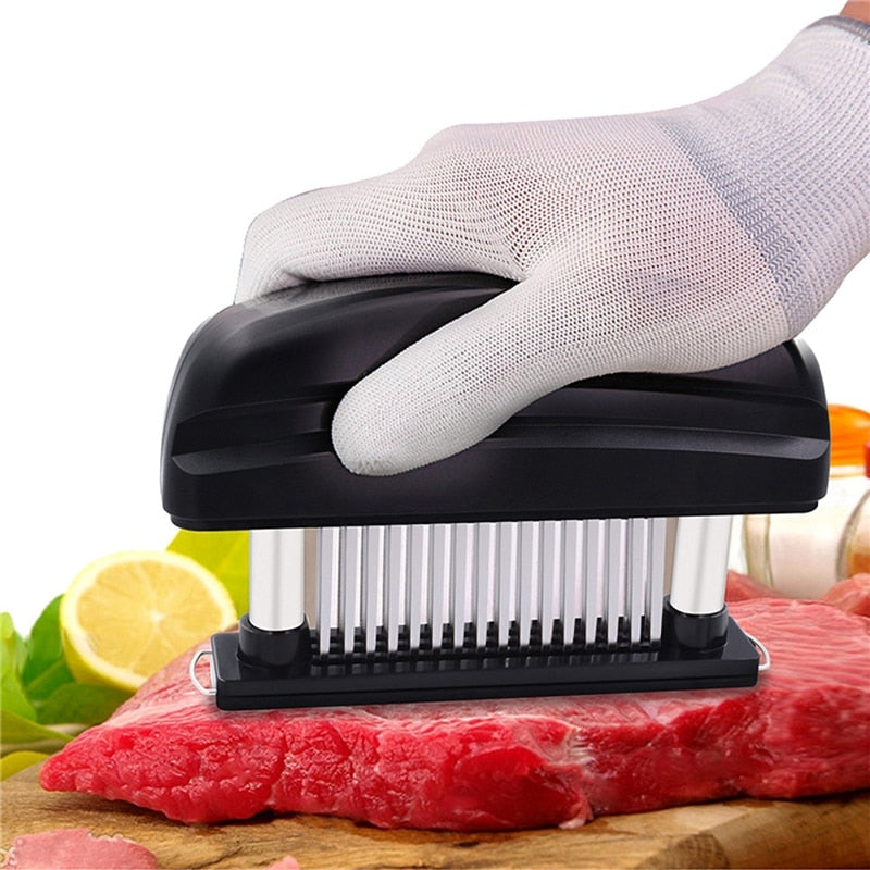 Kitchen Cookware Blades Needle Meat Tenderizer Stainless Steel Knife Beaf Steak Mallet  Cooking Tools
