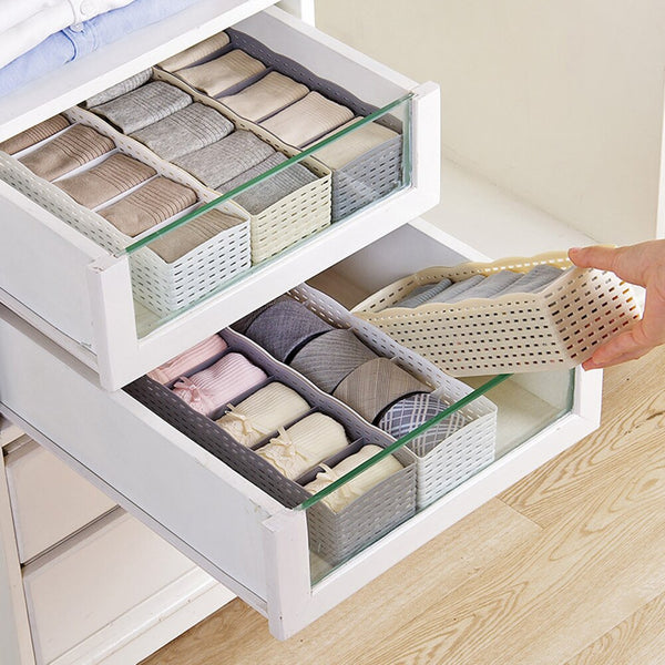 Home Storage Basket Socks Underwear Plastic Container Organizer