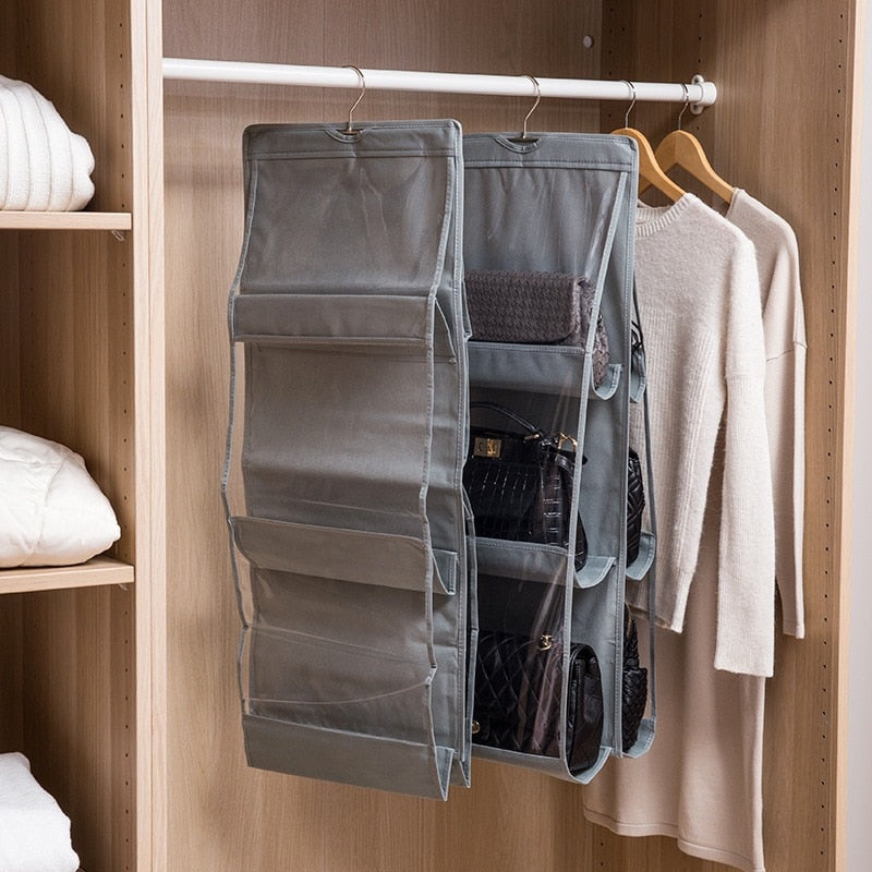 House Keeping Foldable Hanging Bag 3 Layers 6 Pockets Organizer Storage Closet