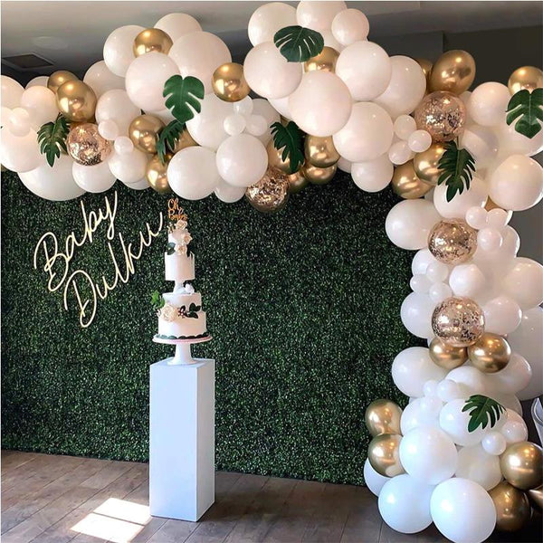 Latex Balloon Garland Arch Kit Metallic Balloon for Blush Bridal Shower Wedding Decor - honeylives