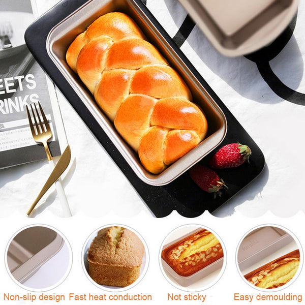 Kitchen Cook Loaf Pastry Baking  DIY Cake Rectangle Carbon Steel Toast Bread Mold