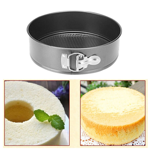 Kitchen Cook Cake Turntable Set Non-Stick Metal Bake Mould Round 1 Pcs