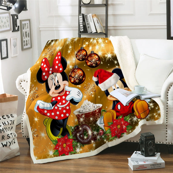 Bedding Cute Christmas Mickey Blanket Bedspread for Kids Gift