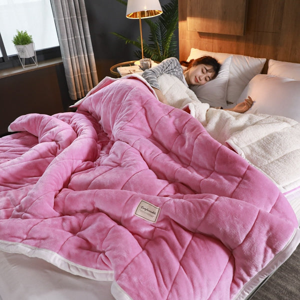 Bedding Super Warm Blanket Luxury Thick Blankets Fleece Bed Cover