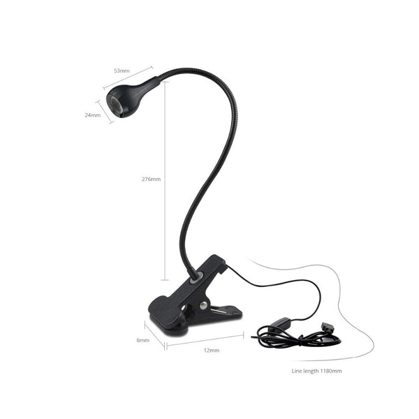 USB Power Book Lights Bending Bedside Night Lamp