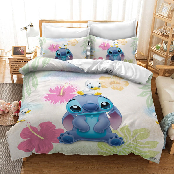 Bedding Set Cartoon Bedspread Single Twin Full Queen King Size 3 Pcs