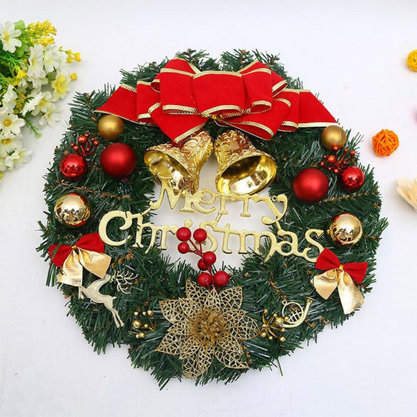 Home Garland Christmas Ornament Decorative Wreath Bow