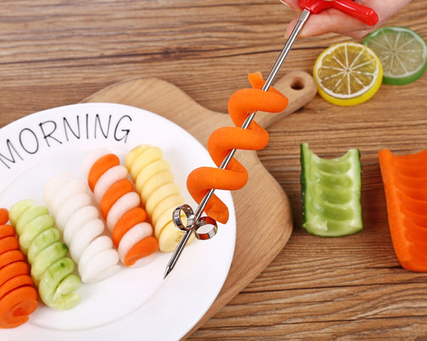 Kitchen Cook Manual Spiral Screw Slicer Vegetables Spiral Knife Carving 1pc
