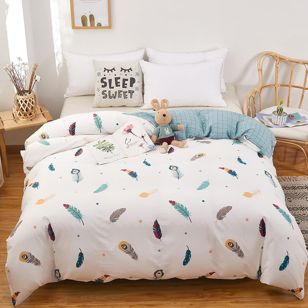 Bedding Nordic Printed Duvet Cotton Quilt Cover Double King Full Queen 1 Pcs