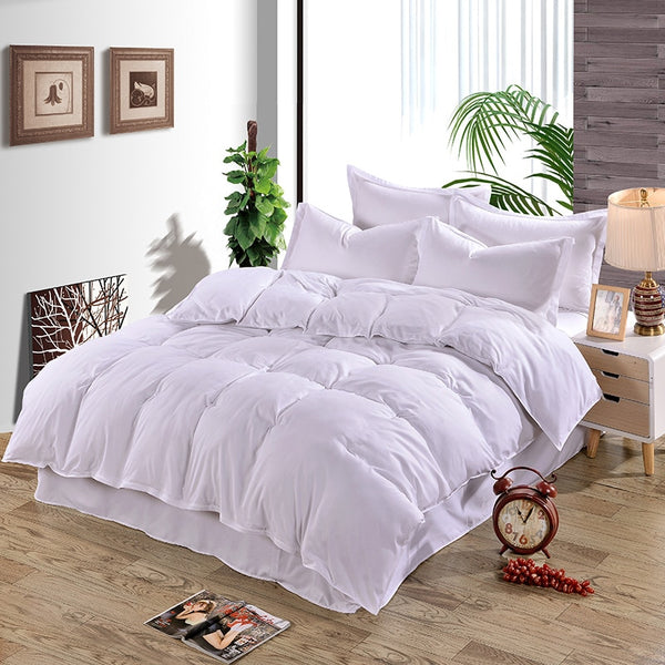 Bedding Set Textile Microfiber Duvet Cover Solid Twin Full King Size 4 Pcs