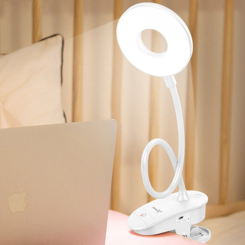 LED eye protection desk lamp with clip USB rechargeable