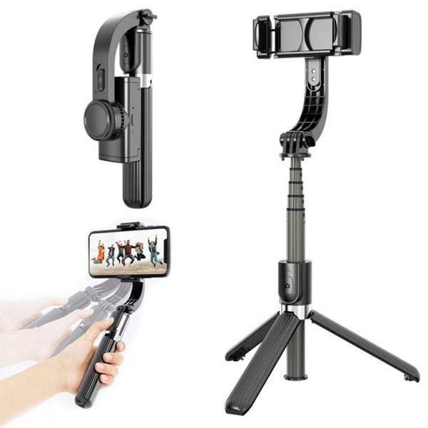 Hand Stabilizer Selfie Stick Tripod With Bluetooth Remote Control Universal Smartphones