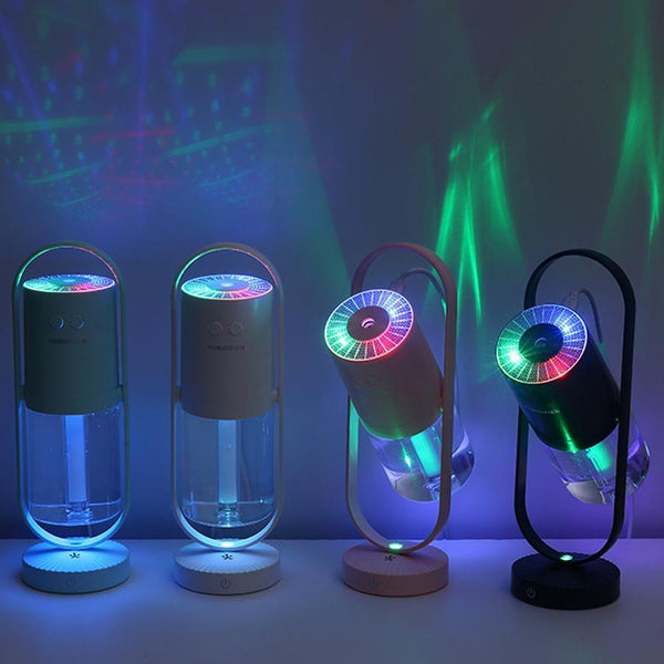 Magic Negative Air Ion Humidifier 200ML Purifier Multiple Led Lights