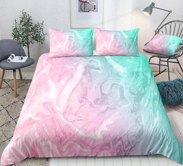 Bedding Quicksand Duvet Cover Set Liquid Marble Linen Home Textile