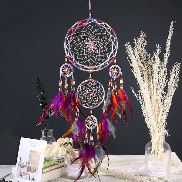 Home Creative Handmade Five-ring Dream Pendant Decoration
