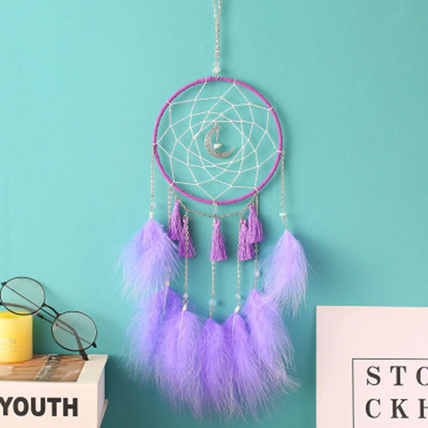 Home Decor Feather Dream Catcher Handmade Fairy Wind Chimes