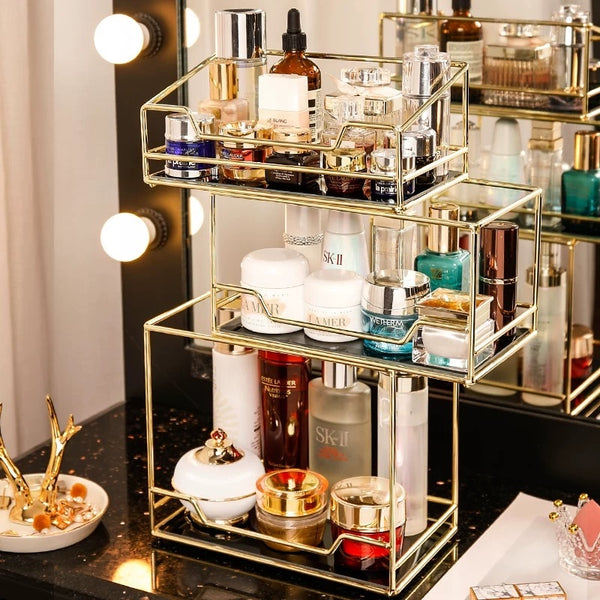 Home Rotating Cosmetic Desktop StorageTransparent Makeup Organizer