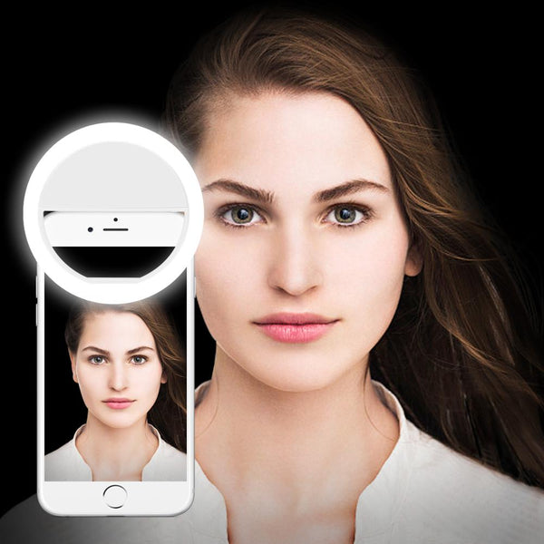 Dimmable LED Selfie Ring Light Vlog Blogger Live Makeup Table Lamp Tripod