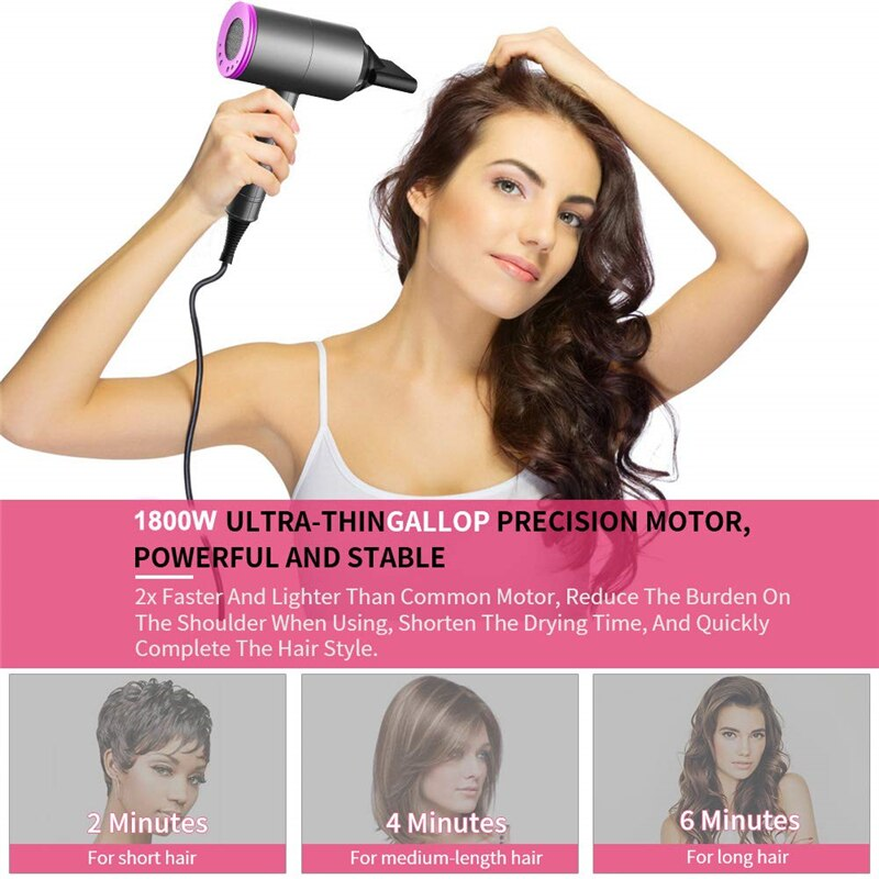 Professional Blow Hair Dryer with Diffuser Brush Electric Dryer