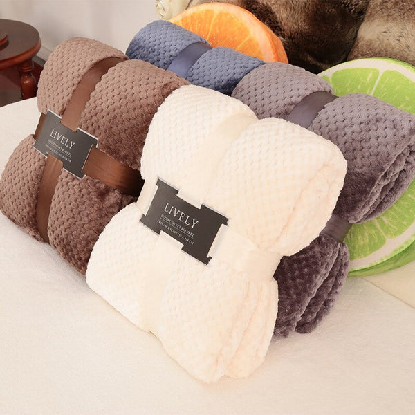 Bedding Blanket Flannel Aircraft Sofa Bed Blanket Queen Size