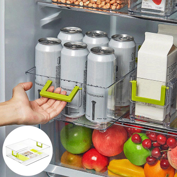 Kitchen Storage Space Saver Bottle Holder Container Refrigerator Beverage Cans