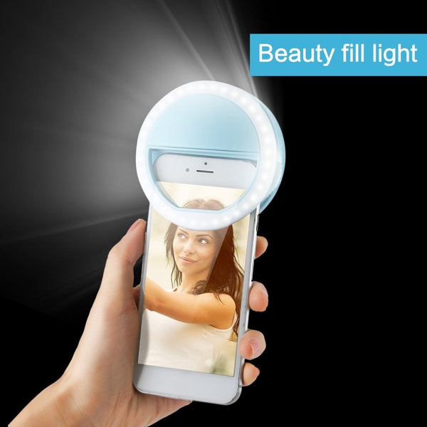 LED Ring Flash Light Portable Mobile Phone 36 LEDS Selfie Lamp For Iphone