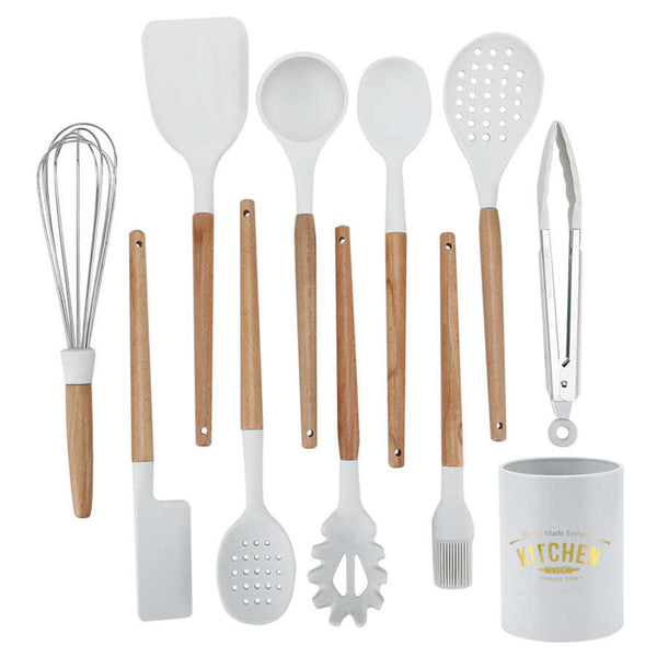 Kitchen Cook Practical Simple Silicone Kitchenware Cooking Utensils 11 Pcs