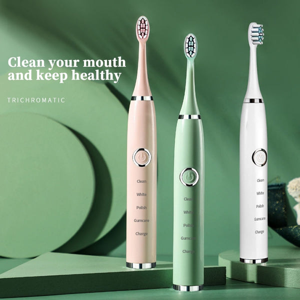 Bathroom Sonic Electric Toothbrush Adult Timer Brush 5 Mode USB Charger Rechargeable