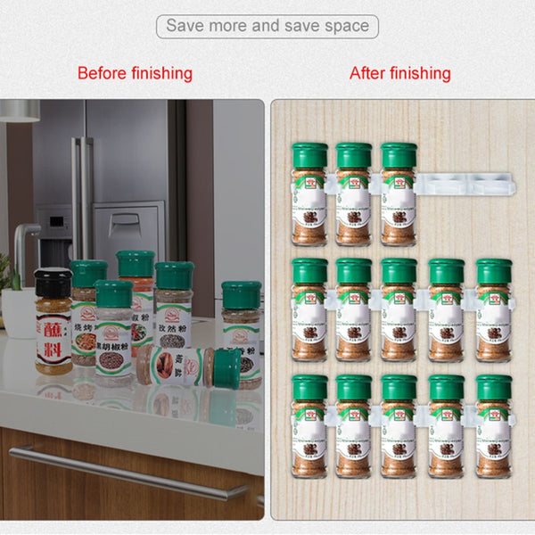 Kitchen Storage Wall Mount Seasoning Bottle Holder Hanging Cabinet