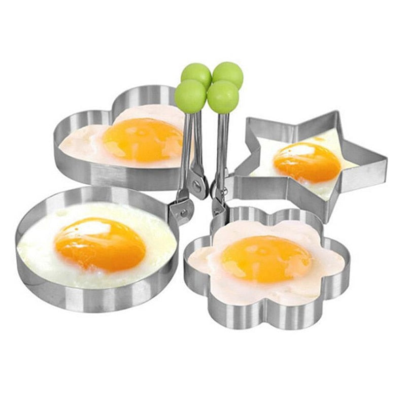 Kitchen Cook Stainless Fried Egg Pancake Shaper Omelette Mold 5 Style