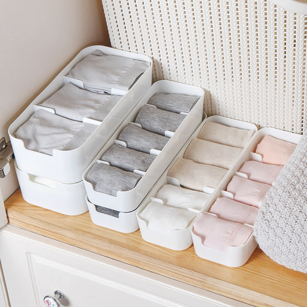 Home Organizer Basket Socks Storage Box Underwear Plastic Container