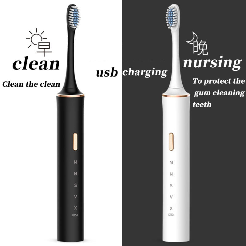 Bathroom USB Rechargeable Adult Electronic Washable Tooth Brush
