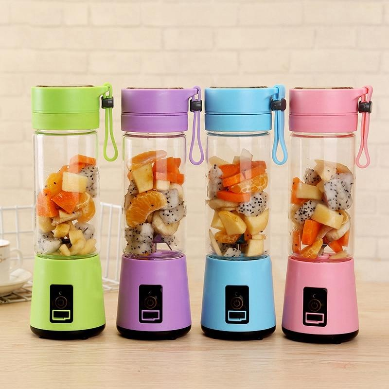 Portable Blender Usb Mixer Kitchen Electric Juicer Machine Mini Food Processor - honeylives