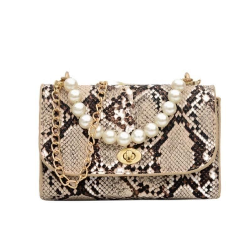 Luxury Designer Wild Serpentine Small Square Crossbody Bags