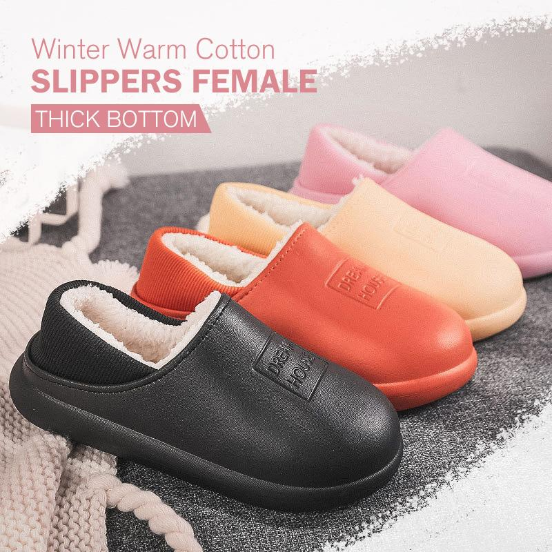Winter Warm Cotton Slippers