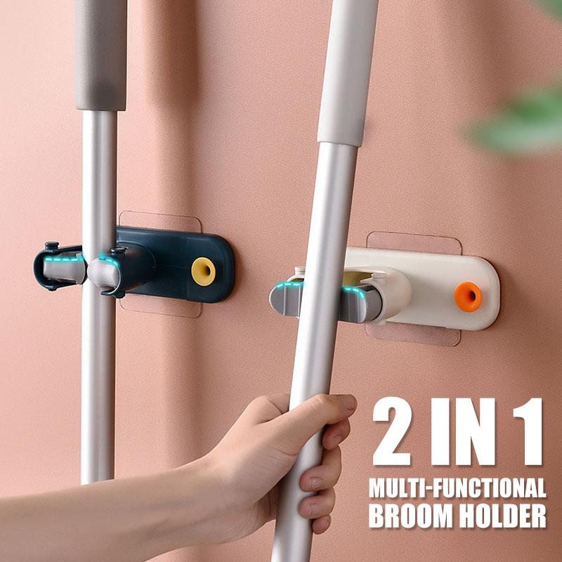 2 In 1 Multi-functional Broom Holder