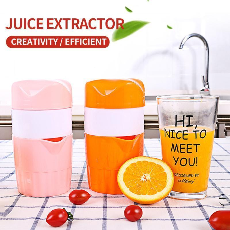 100% Fresh DIY Manual Portable Citrus Juicer