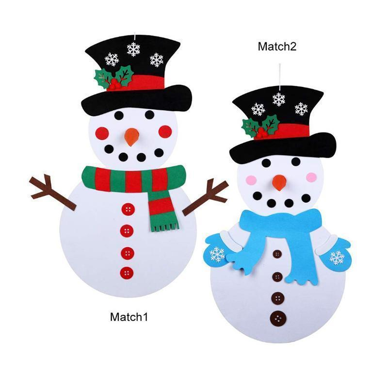DIY Felt Christmas Snowman Set