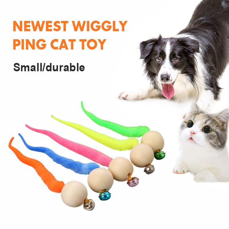 Wiggly Cat Toys with Bells 2PCS