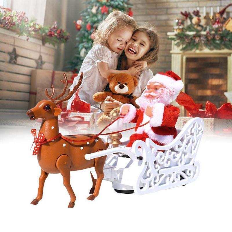 Electric Santa Claus Toys Music Deer