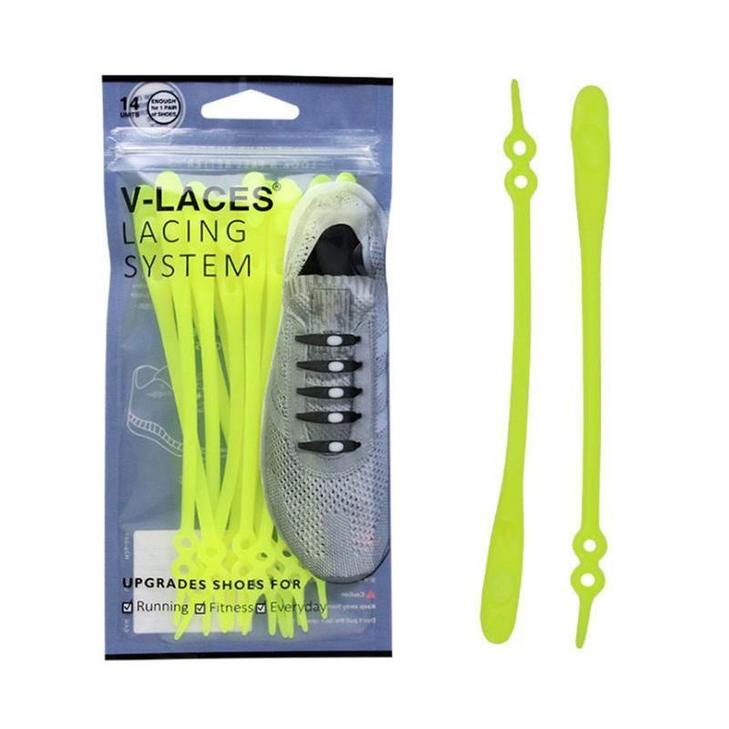 New Double-hole Adjustable No Tie Shoelaces,14 Pcs