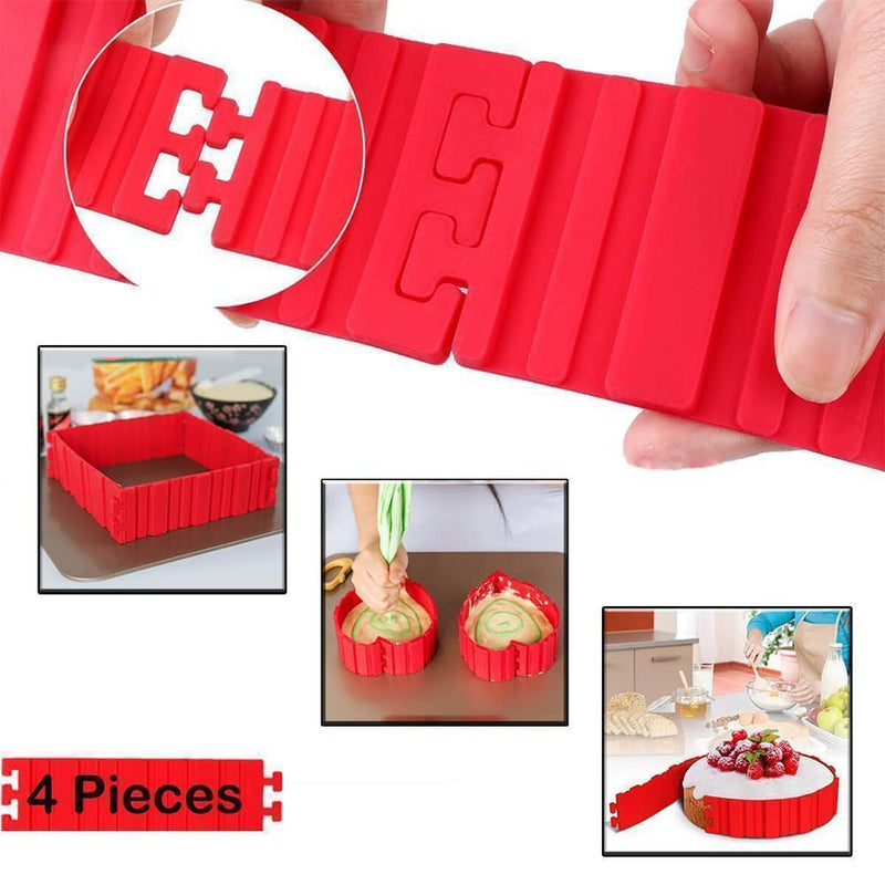 DIY Nonstick Silicone Cake Mold Kitchen Baking Mould Tools