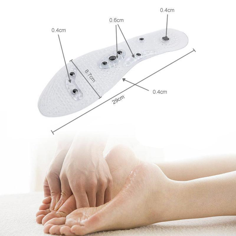 Acupressure Magnetic Massage Foot Therapy Reflexology Shoe Insoles