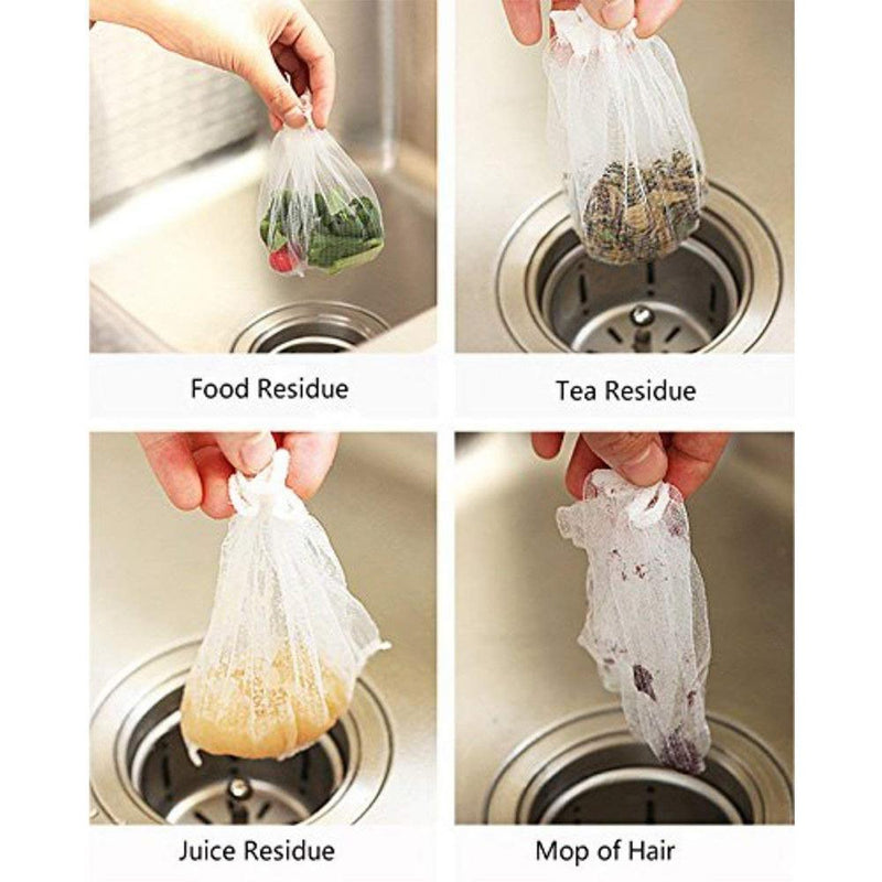 Hirundo Disposable Mesh Sink Strainer Bags, 300 PCS