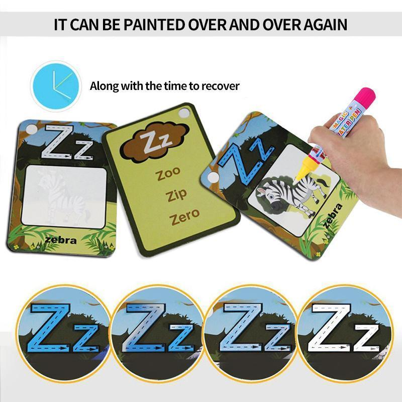 Children Learning And Drawing Card Set