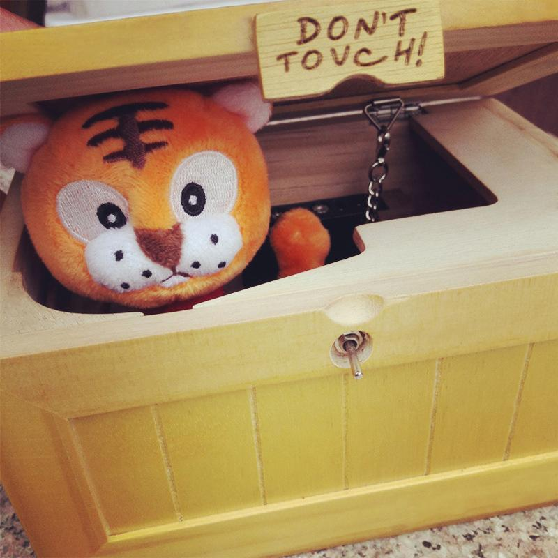 """Don't Touch"" Tiger in a Box"
