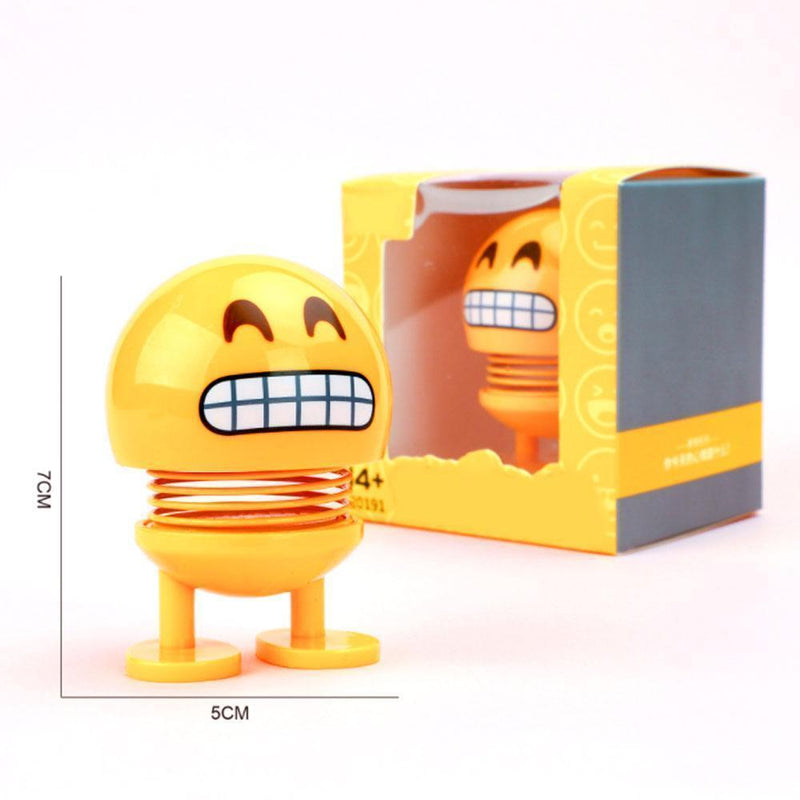 Car Shaking Head Emoji Doll Toys