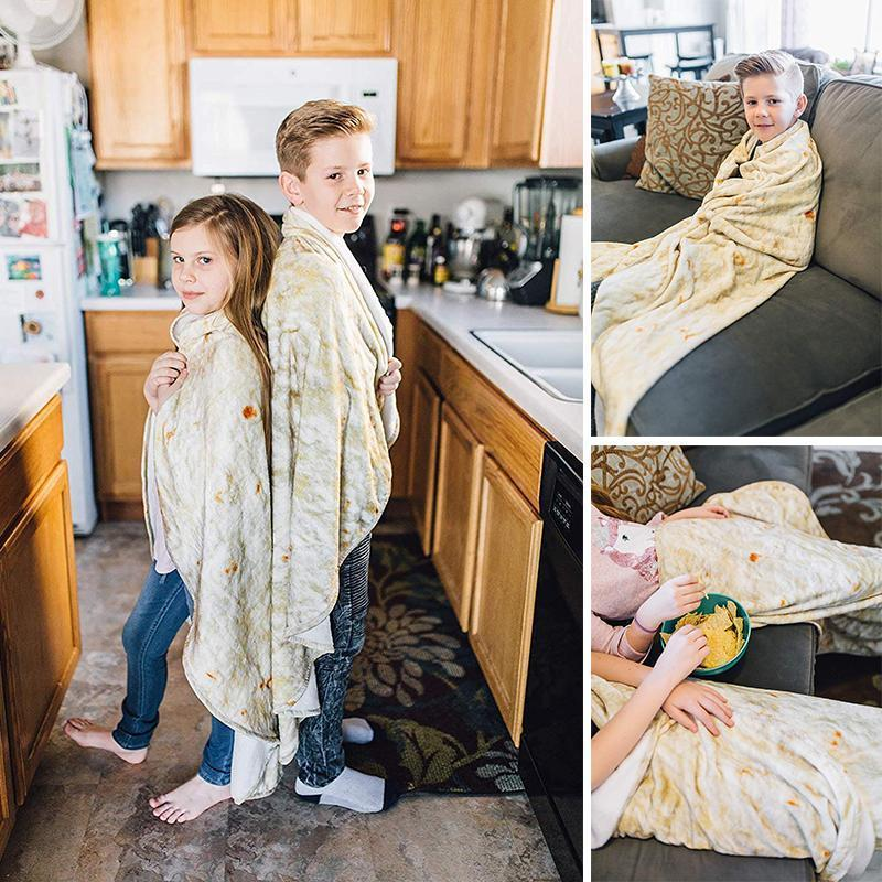 Burrito Blanket - Perfectly Round Tortilla Throw